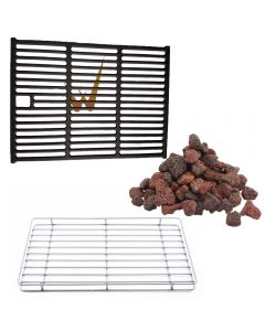 Outback conversion kit allows you to change from 1/2 grill and 1/2 griddle to 100% grill.