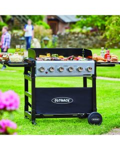 Outback Party 6 burner is ideal for social and business applications