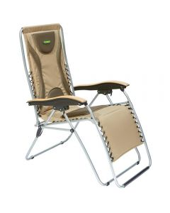Outback Padded relaxer with timber arm rest in wine
