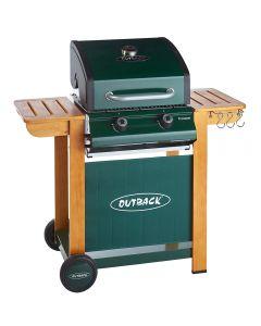 Outback Modern Classic Trooper 2 burner hooded gas barbecue