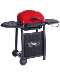 Outback Omega 201 Red Charcoal Hooded BBQ