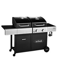 Outback 2 Burner Dual Fuel Gas & Charcoal BBQ