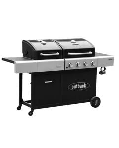 Ideal for those who are undecided on which BBQ they prefer...a gas or charcoal BBQ - get it both with the Combi model